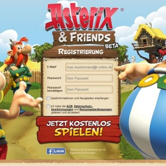 Asterix & Friends: Browsergame startet in offene Beta-Phase