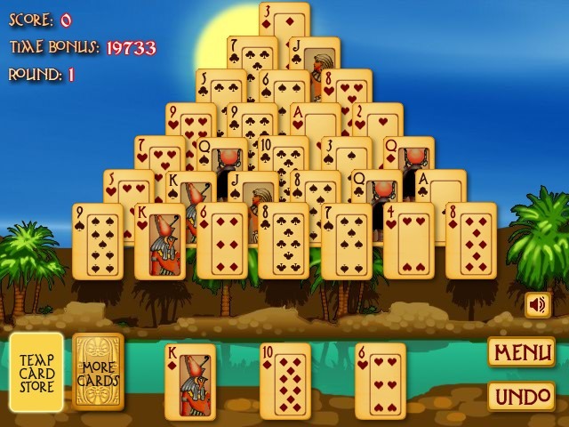 games pyramid solitaire